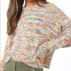 Forever 21 ribbed knit sweater multicolored M